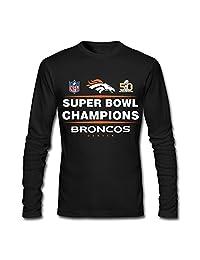 Denver Broncos Super Bowl 50 (10) T Shirts 100% Cotton For Men Black