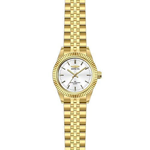 Invicta Women's Specialty Gold-Tone Steel Bracelet & Case Quartz Silver-Tone Dial Analog Watch 29407