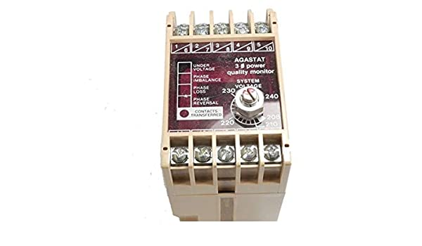 120//240VAC 8AMP AGASTAT PMALBS Power Monitor 5AMP 30VDC