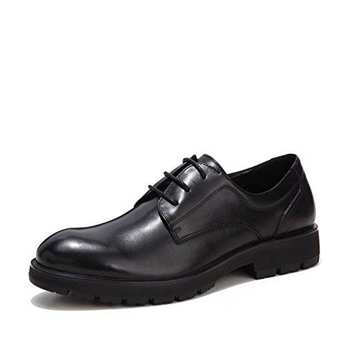HHY-Los zapatos de cuero con suelas de cuero hombres de negocios zapatos de vestir zapatos de amarre,negro,44 40|black black