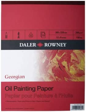 "14/"" x 10/"" Daler Rowney Georgian Oil Painting Pad"