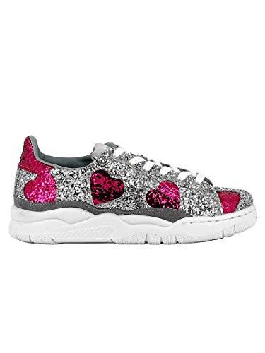 Chiara Glitter Sneakers Ferragni Donna Argento Cf2075 fAx7Owf