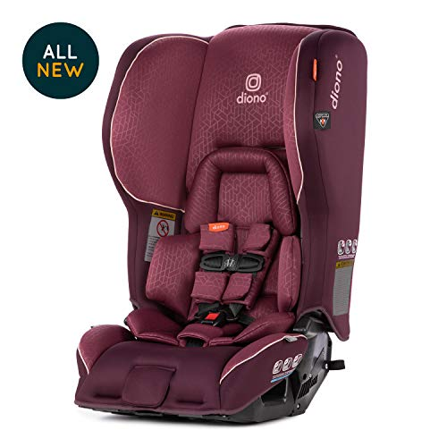 Diono Rainier 2AX Convertible Car Seat, Plum (Diono Radian Rxt Weight And Height Limits)