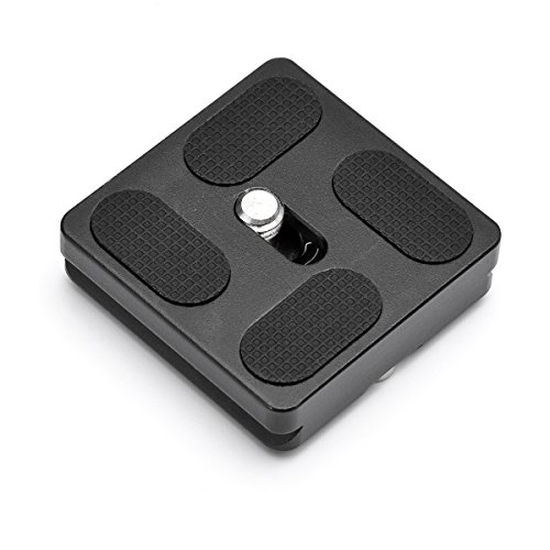 InnerTeck 40mm Black Metal Quick Release Plate for Tripod Ball Head fits all the Arca-type quick release adapters (Type Quick Release)