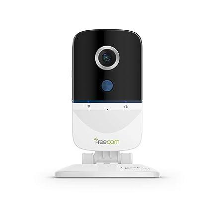 Cámara WiFi FREECAM cámara de Seguridad activada por Movimiento Charla bidireccional con Alarma de Sirena,