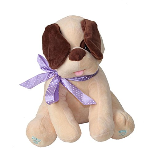 talking plush toy by Vibola Dog Baby Soft Doll Singing Stuffed Animated Animal Plush Toy (Halloween Talking Dog Toys)