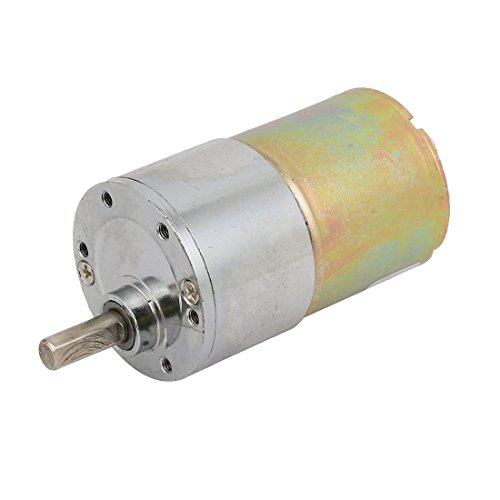 Aexit DC 12V Electrical equipment 6mm D Shaft Dia 150RPM Round Gear Box Speed Reducing Electric Motor