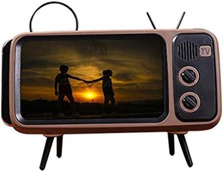 Compra PETUNIA Creative Pth800 Retro TV TV Tarjeta de Soporte para teléfono móvil Altavoz inalámbrico Audio inalámbrico para Exteriores Profesional Marrón en Amazon.es