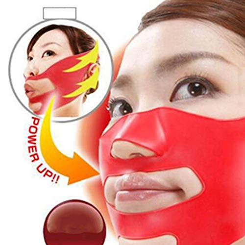 FGHGFCFFGH Silicone Face Slimming Mask V Shape Double Chin Tightening Belts