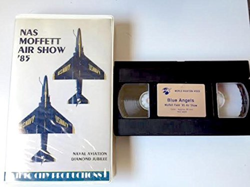 NAS Moffett Air Show '85 - Blue Angels - Naval Aviation Diamond - Air Angels Blue Show