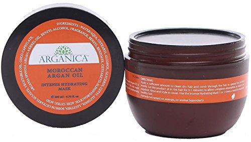All Natural Moroccan Argan Oil Intense Hydrating Mask (6.76 fl. oz.) - Argan Oil Intense Hydrating Mask for Soft Hair, Smooth Hair - Chemical-Free