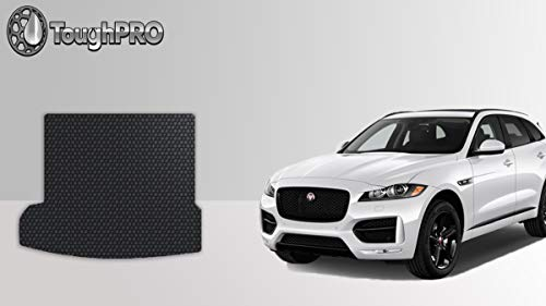 The Ultimate Winter Mats Largest Coverage TuxMat Custom Car Floor Mats for Jaguar I-Pace 2019-2020 Models Laser Measured Waterproof Full Set - Black All Weather