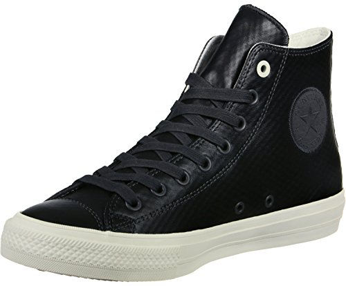 153555C|Converse CT All Star II Mesh Back Leather Hi Almost Black|44,5