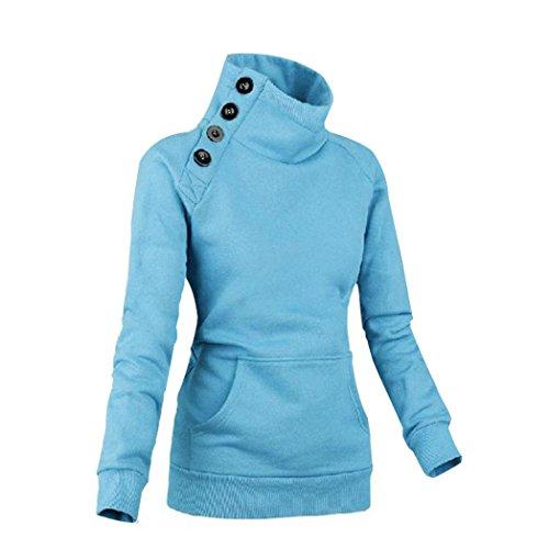 Overdose Largo Suéter El La Del Mujeres Nuevo Capa Camiseta Nuevas Azul Remata Manga Puente De Las rHqrB4wx