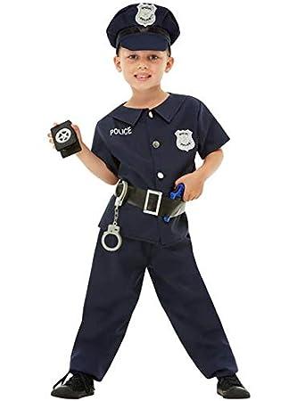 Funidelia Disfraz de policía para niño: Amazon.es: Juguetes y juegos