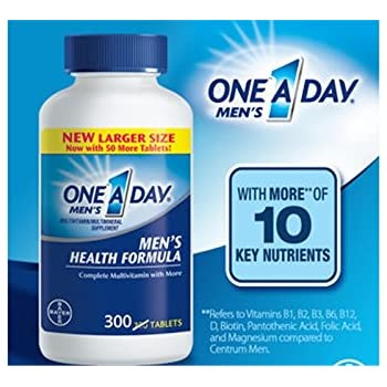 One-A-Day Multivitamin, Men's Health Formula , Special Size pack of 300 Tablet Bottle total