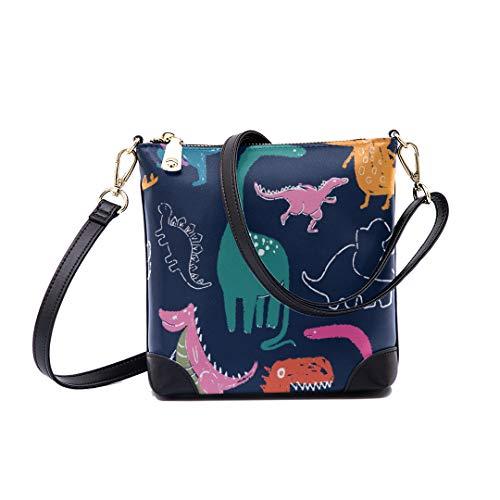 Shoulder Bag Dinosaur Pastel Print Pattern For Women Bucket Crossbody