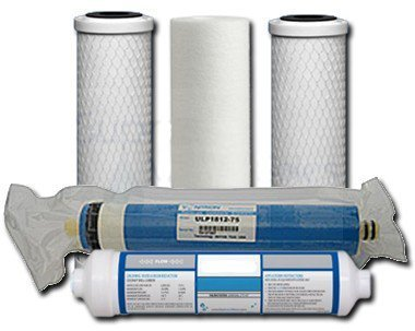 Universal 5-Stage Under Sink Reverse Osmosis Replacement Filter Kit - UN5STG-KIT