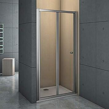 Mamparas Puerta Abatible Pantalla de Ducha 6mm cristal para 90x185cm: Amazon.es: Bricolaje y herramientas