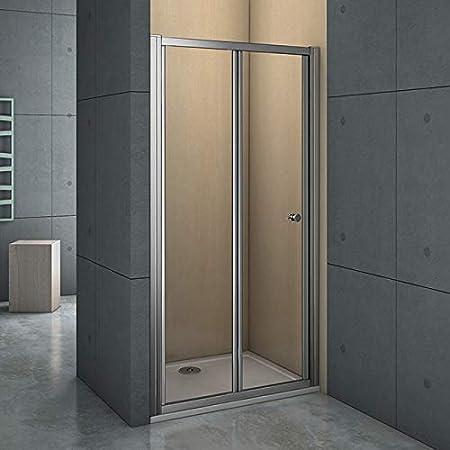 Mamparas Puerta Abatible Pantalla de Ducha 6mm cristal para 100x185cm