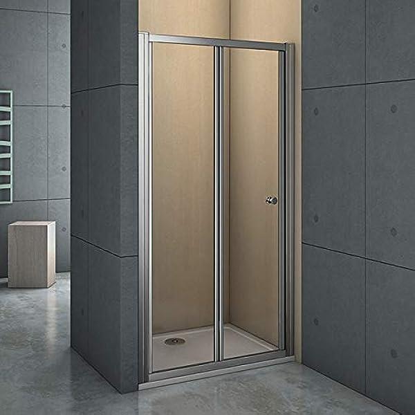 Mamparas Puerta Abatible Pantalla de Ducha 6mm cristal para 80x185cm: Amazon.es: Bricolaje y herramientas