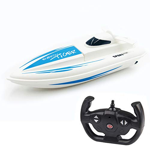 HighSound Remote Control Boat, High Speed 1:16 Racing RC Boats, 2.4GHz Transmitter with Extra Battery Set, Freshwater Only (Blue) (Best Remote Control Boat For The Money)