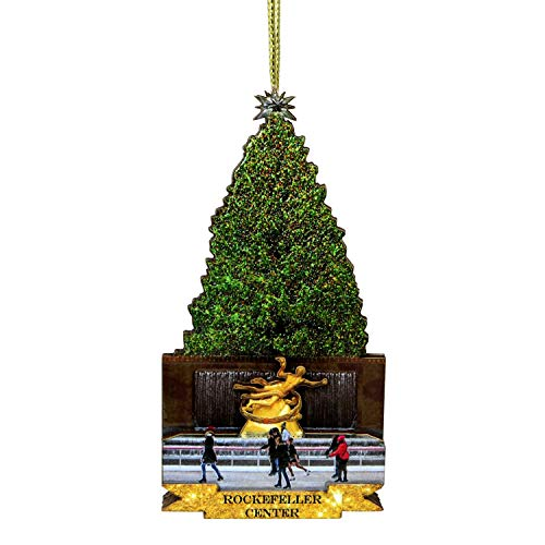 City-Souvenirs Rockefeller Center Ornament, Multi Layered 4.25 Inch NYC Christmas Ornament ()