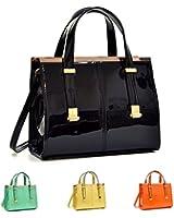 Dasein Fashion Faux Leather Satchel Briefcase Shoulder Bag