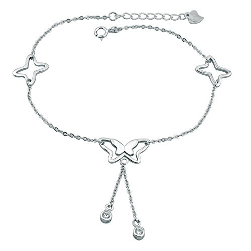 - Corykeyes Sterling Silver Butterfly Anklet Sandal Foot Ankle Bracelet (Style2)