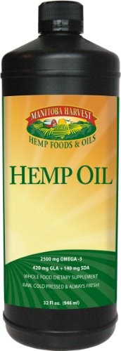 Manitoba Harvest Hemp Seed Nut - Manitoba Harvest Cold Pressed Hemp Seed Oil, 32 fl. oz., 10g of Omegas per Serving, Non-GMO