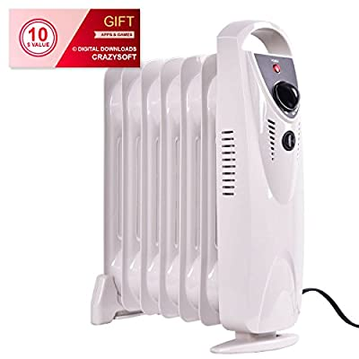 Portable 700 w Electric Oil Filled Radiator Heater - By Choice Products