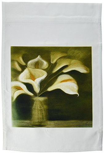 3dRose fl_18262_1 Flowers Calla Lily Garden Flag, 12 by 18-Inch