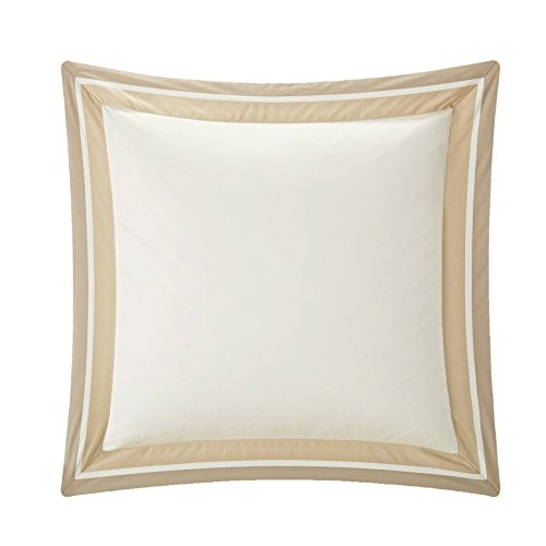 Casabolaj Shading Collection 2 pieces European Square Pillow Shams -100% Egyptian Cotton Sateen 400 Thread Count - 26