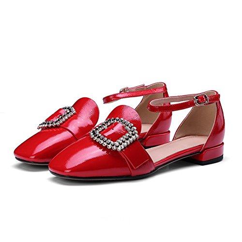 AdeeSu Womens Toggle Beaded Fashion Urethane Sandals SLC03955 Red 7I5yoYQBl5