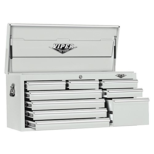 Viper Tool Storage V4109WHC 41-Inch 9-Drawer 18G Steel Tool Chest, White by Viper Tool Storage