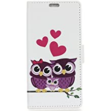 Alcatel A3 Plus Case,Gift_Source [Wallet Style] Premium Flip Folio Soft PU Leather Holster Magnetic Kickstand Cover Case Built-in ID Credit Card Slot for Alcatel A3 Plus (5.5 inch) [Owl]