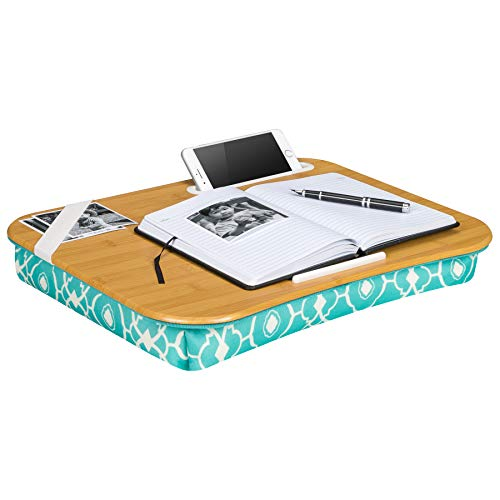 LapGear Designer Lap Desk-Aqua Trellis (Fits up to  17.3