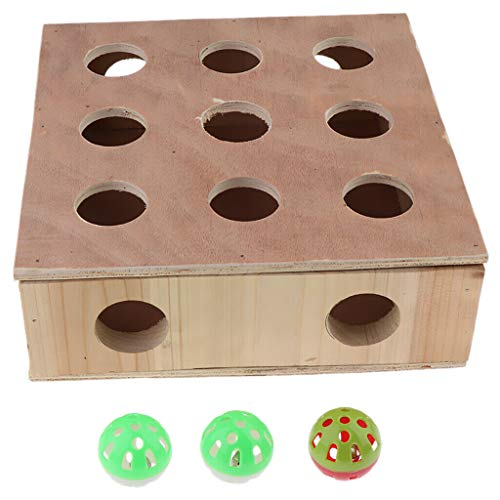 Agordo Cat Toy Box for Cat Kitten Interactive Indoor Puzzle Box Hide and Seek