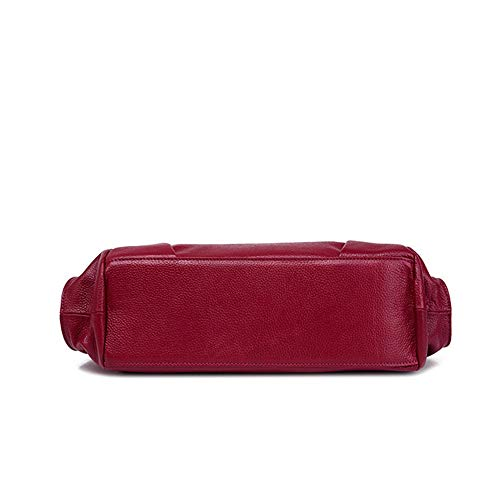 Wangkk pour à cuir bandoulière une capacité Sac Sac de rouge femme main à à épaule grande en couche avec HnHxFfwBq