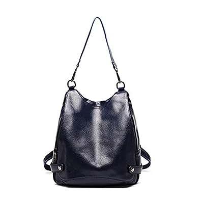 Nikauto mochila de cuero para mujer one_size azul: Amazon.es: Zapatos y complementos