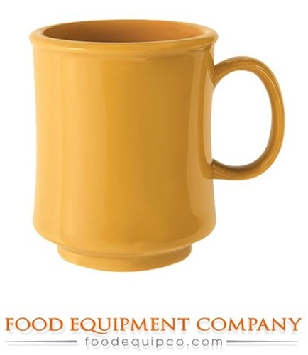 GET Enterprises TM-1308-TY 8 oz. Mug/Cup Stacking Tropical Yellow - Case of 24 - 8 Ounce Stacking Mug