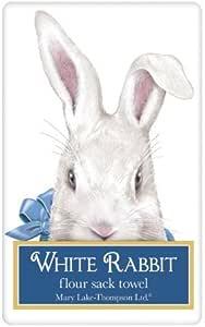 Amazon Com Mary Lake Thompson Easter Rabbit Peek A Boo Bagged Flour Sack Towel Home Kitchen