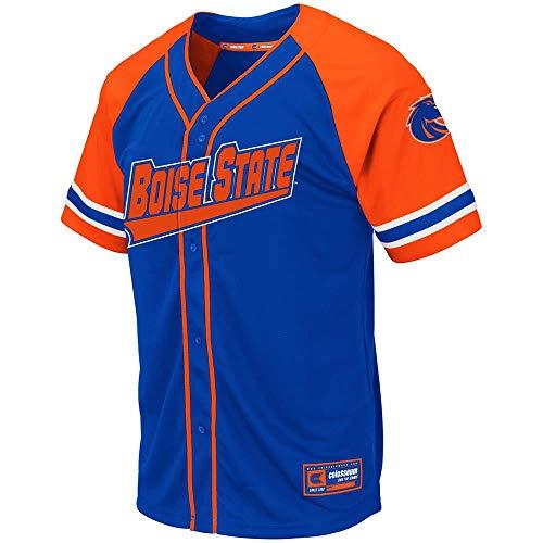 (Colosseum Mens Boise State Broncos Wallis Baseball Jersey - L)