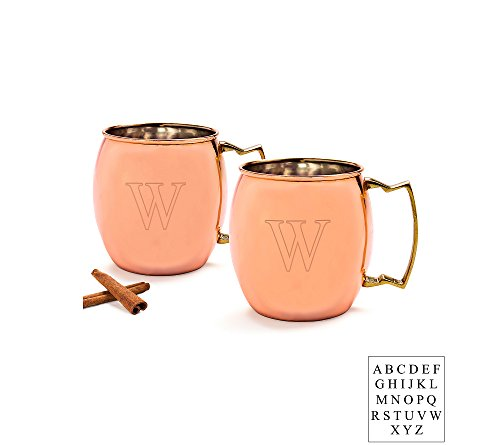 Cathy's Concepts Personalized Set of 2 Moscow Mule Copper Mugs Letter - G by Cathy's Concepts