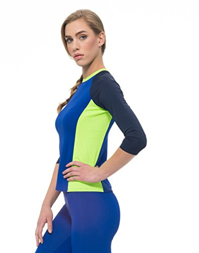 SALE! Undercover Waterwear Ladies Navy Lime and Sapphire Rashguard Swim Top