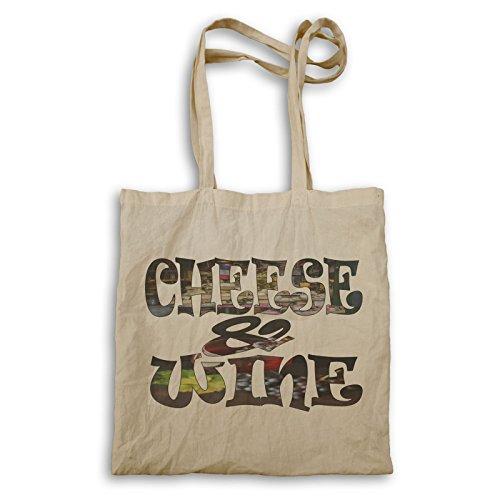 Käse und Wein Frankreich Flagge Tragetasche u323r