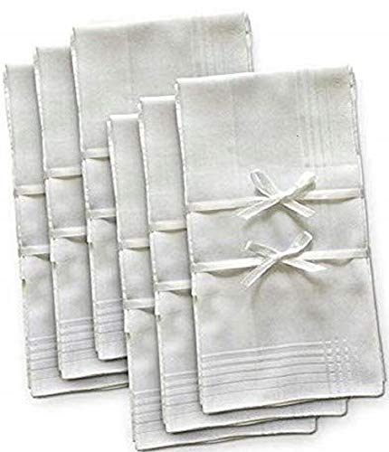 - Brooklyn Bamboo Men's Organic Handkerchief   Extremely Soft & Absorbent Hankie   Assorted 6 Piece Woven Set   Durable & Hypoallergenic   17 x 17 Inches   White