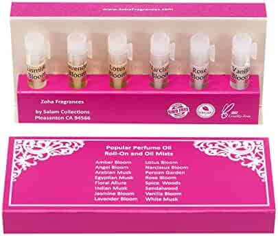 Perfume Oil Sampler - 12 Perfume Samples (1ml Vials with applicator) Essential Oils and Clean Beauty Hypoallergenic Vegan Perfumes for Women and Men by Zoha Fragrances