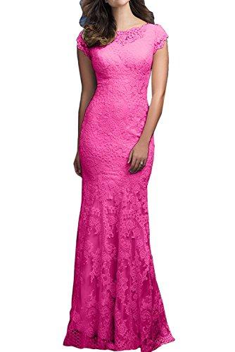 La_mia Braut Elegant Hell Gelb Lang Spitze Abendkleider Ballkleider Abschlussballkleider Jugendweihe Kleider Trumpet Rock Pink IyqHN