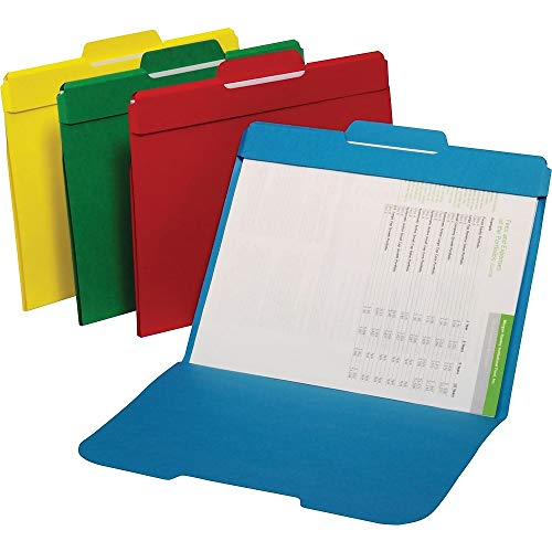 (Staples 682578 Secure Colored File Folders Letter 3 Tab Center Position 50/Box)